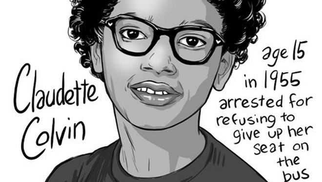 Claudette Colvin, 15, refused to give up her bus seat in Montgomery, Alabama, on March 2, 1955 — nine months before Rosa Parks.
