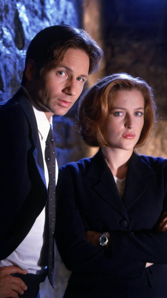 For nine seasons, David Duchovny and Gillian Anderson starred as FBI agents investigating the paranormal in 'The X-Files.'