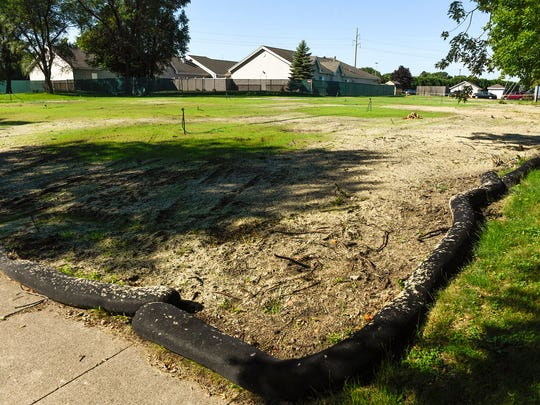 Anna Marie's shelters for victims of domestic violence shown Friday, Aug. 11, in St. Cloud. The shelter is planning an  expansion project into this open lot and renovation to the existing building.