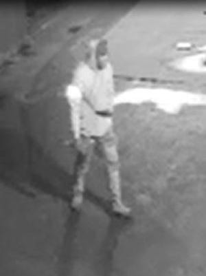 Video still of the suspect in an  East Rochester armed robbery.