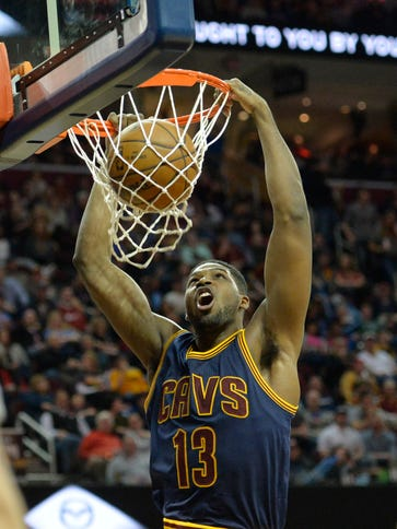 Cavaliers center Tristan Thompson, who finished fifth