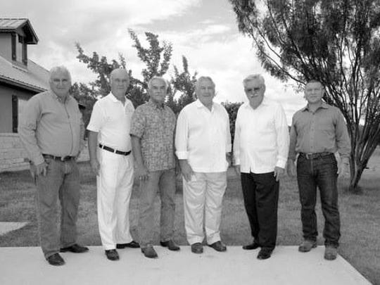 Tejano Monument organizers and original board members include (from left) Homero Vera, Jaime Beamon, Dr. Andres Tijerina, Dr. Cayetano Barrera, Renato Ramirez and Richard Sanchez.