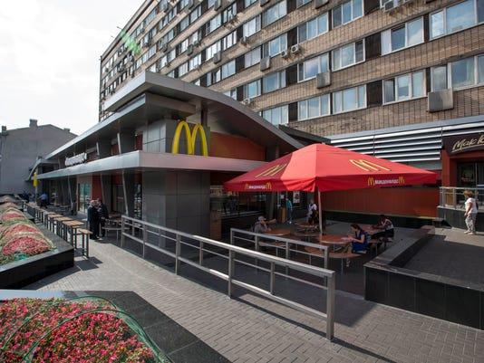 APTOPIX Russia McDonald's