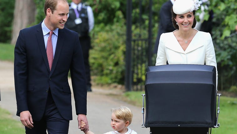 Prince William, Duchess Kate, Prince George and the