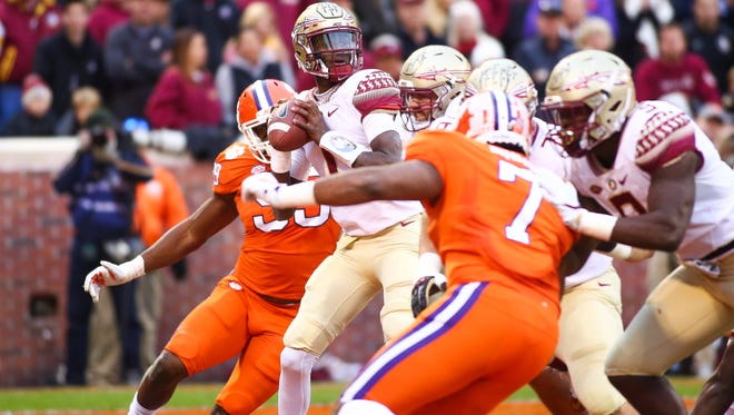 Florida State freshman quarterback James Blackman collected 208 passing yards against the Clemson Tigers