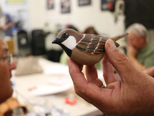 In addition to duck decoys, members of the Maumee Bay Carvers Association also create work shore and songbird carvings.