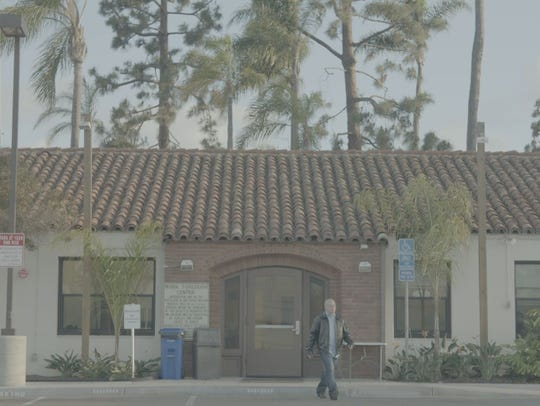 An inmate leaves a facility in San Diego.