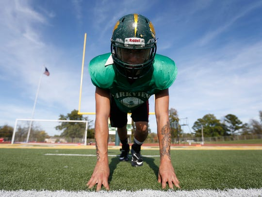 Parkview High School football player Pete Gonzales