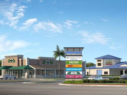 Baron Shoppes is under construction at the site of the former Wallace Chevrolet on U.S. 1 near Monterey Road in Stuart.