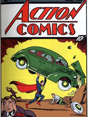 Here's the cover of 'Action Comics No. 1,' which marked Superman's first appearance.