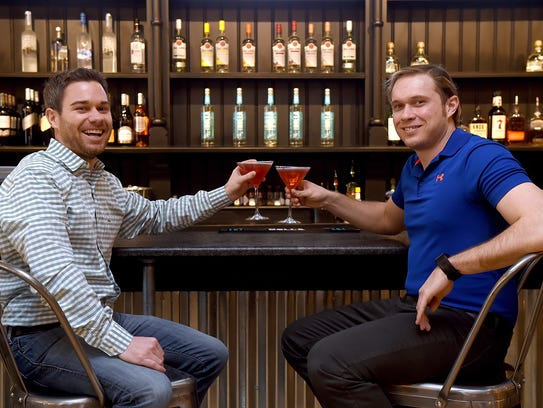 Patrick Shorb, left, and Matt Glaser, both of York, created Holla Vodka in 2013, and debuted the product in local restaurants in late 2016.