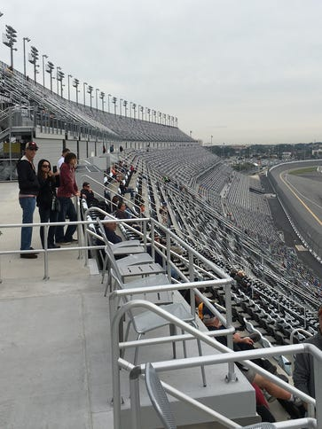 Fans that attended the 2016 Rolex 24 look over the