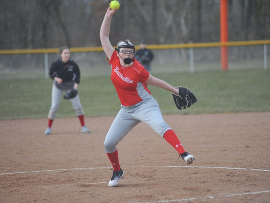Camryn Schafer's pitching was one of the positives Andy Fagan took from the loss.