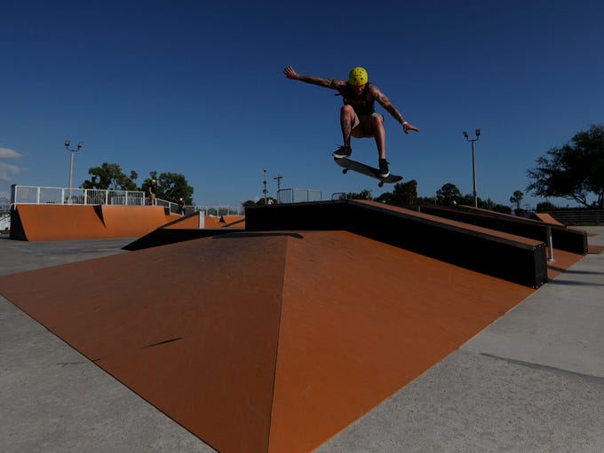 Eagle Skate Park in Cape Coral was busy Friday afternoon,