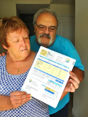 Kathleen and Michael Marinelli, who live in the Oaks at Manor Wood in Titusville, have been having issues with their water bill One month they received a bill for $1144.22 for 88,000 gallons of water usage.
