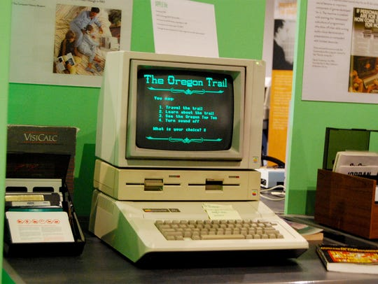 The Oregon Trail is a game that visitors can experience