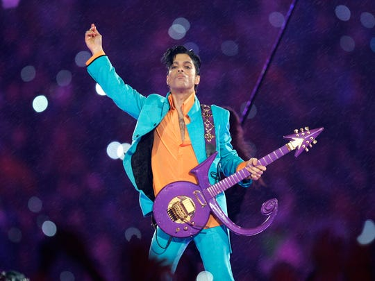In this Feb. 4, 2007 file photo, Prince performs during
