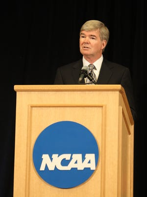 "NCAA President Mark Emmert released a statement Thursday regarding Indiana's passage of the ""religious freedom"" act."