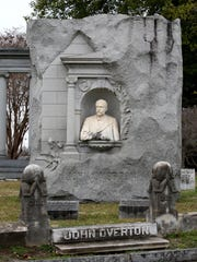 The John Overton monument in historic Elmwood Cemetery is just one of hundreds of interesting and historical monuments in the 80-acre cemetery. Overton was the grandson and namesake of one of the founders of Memphis.