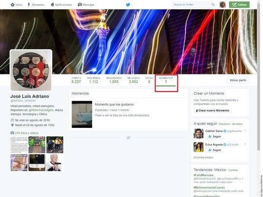 """Ahora cualquier usuario podrá publicar """"Momentos"""" en Twitter; previamente esta función estaba restringida a ciertas cuentas."""