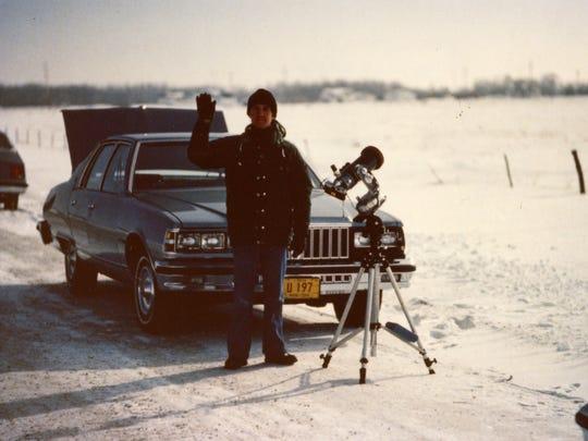 Mark Manner in 1979 seeing his first solar eclipse in Winnipeg in Canada.