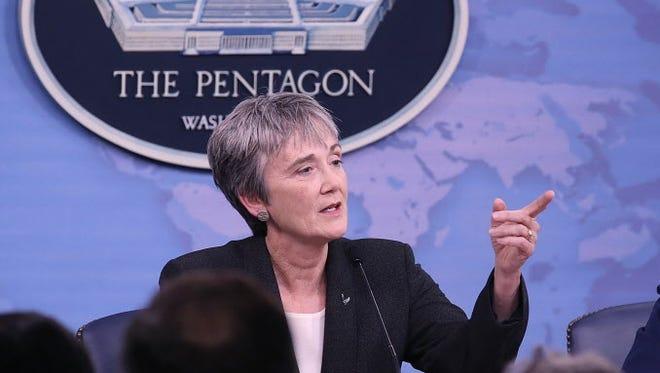 Air Force Secretary Heather Wilson discusses shooter Devin Kelley on Nov. 9, 2017.