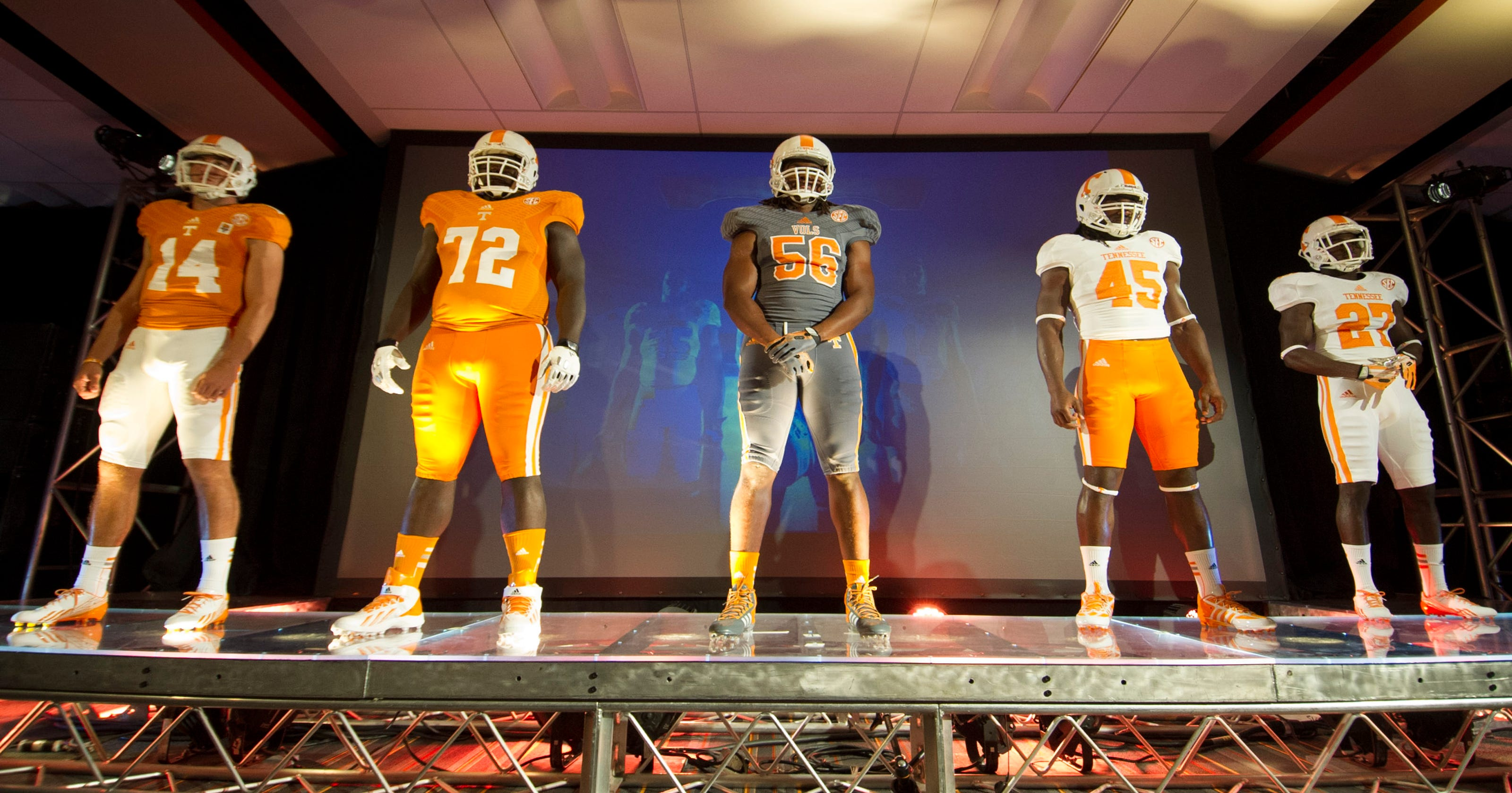uk availability e55ca ed541 Tennessee Volunteers' new jerseys are sign of times