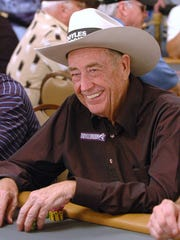 Doyle Brunson of Longworth, Texas won the World Series of Poker main event in 1976 and 1977.