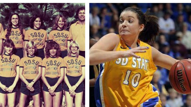 SDSU is celebrating 50 years of women's athletics.