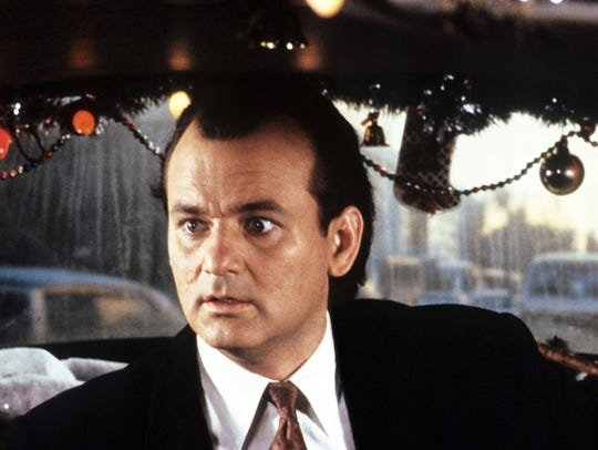 "Bill Murray stars in ""Scrooged."""
