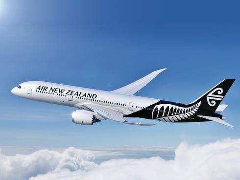 An image of an Air New Zealand Boeing 787-9 Dreamliner.
