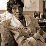 The paintings of Clementine Hunter, who died in 1988 at age 101, depict cotton picking, baptisms, and other scenes of plantation life. This portrait of artist Clementine Hunter was taken in 1987 by then 22-year-old Jeff Kilgo of Ball.