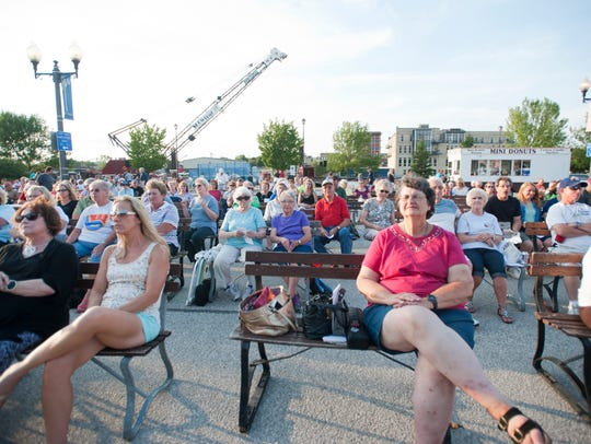 Residents come out to participate Showtime, an annual