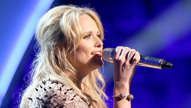 Miranda Lambert, shown at the 2014 MusiCares Person Of The Year Honoring Carole King in January, is up for seven Academy of Country Music awards nominations.