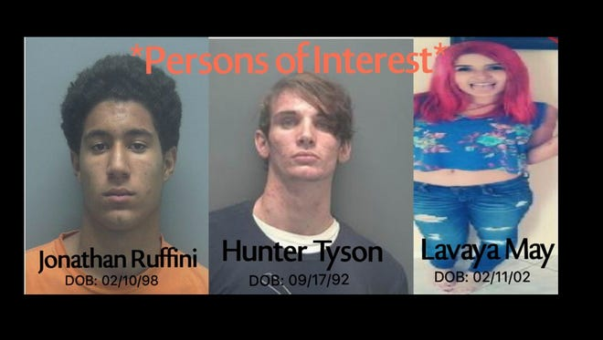 Deputies say these three are people of interests in the death of Ted Lee. Lee was missing and then found dead.