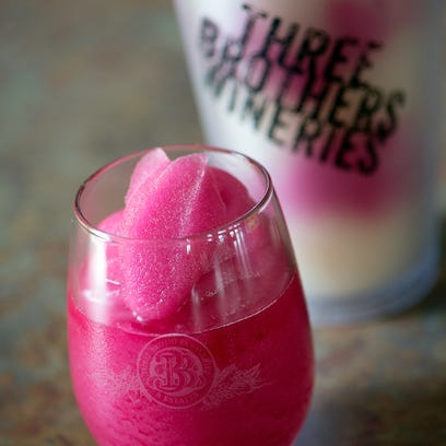 Three Brothers winery offers wine slushies to visitors