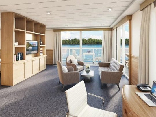 Rendering of interior of the new American Cruise Lines ship put in service on the Mississippi River.