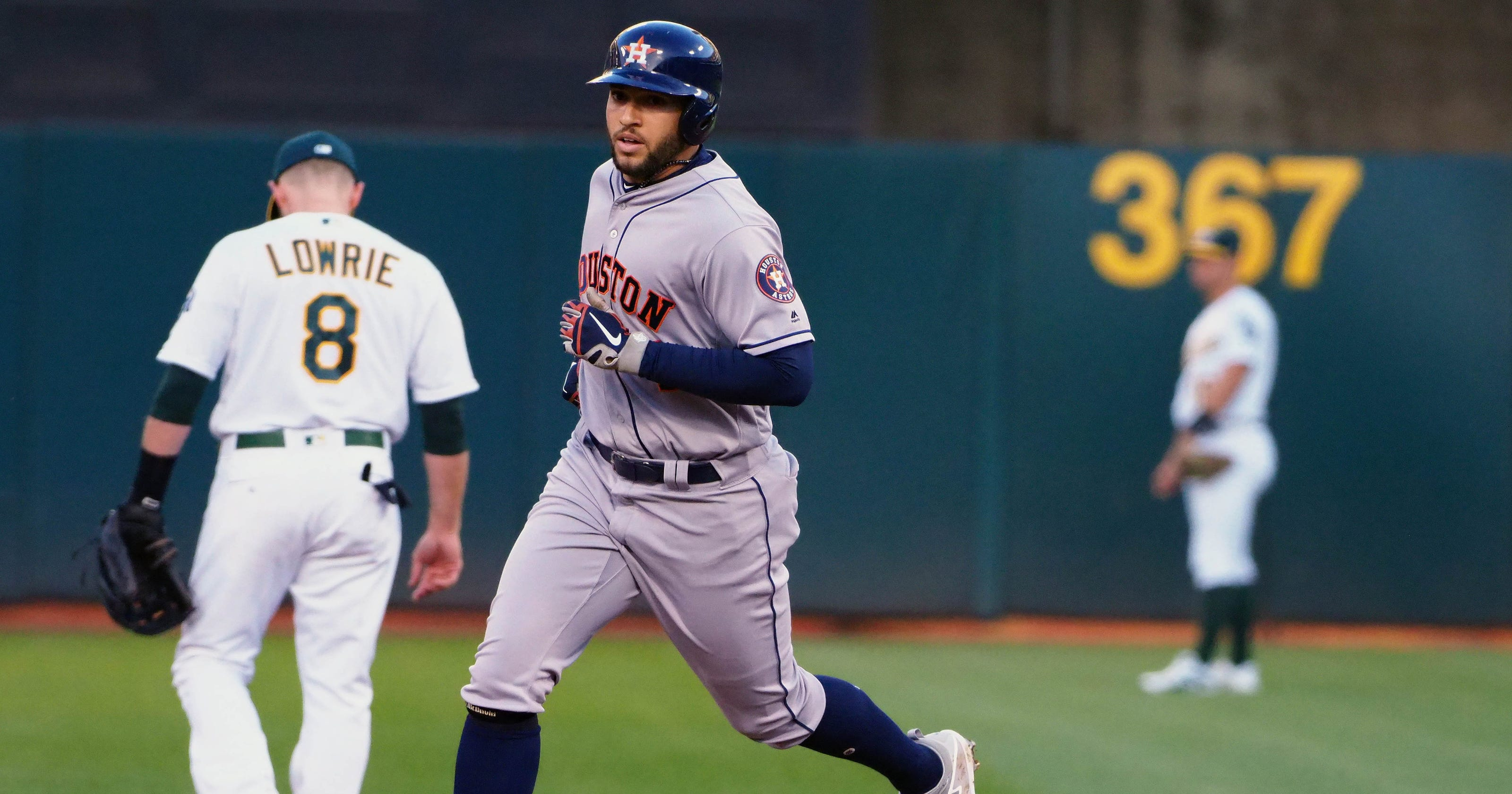 new concept aa3da be7a6 George Springer ties Astros hits record in rout of Athletics