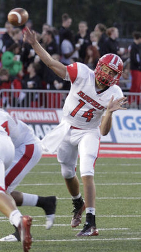 Fairfield QB Hunter Krause has thrown for 845 yards and nine touchdowns for the third-ranked Indians.