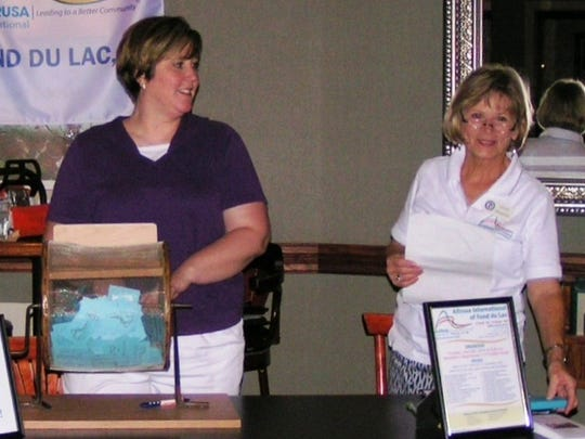 Altrusa's annual raffle was held with members  conducting the drawing,. From left: Judy Dassow, committee member; Karla Bishop, administrative service director at the Solutions Center; and Cathy Draeger, chair of the fund raising/raffle committee.