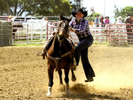 Taylor Vollin competes at a past Junior Rodeo.