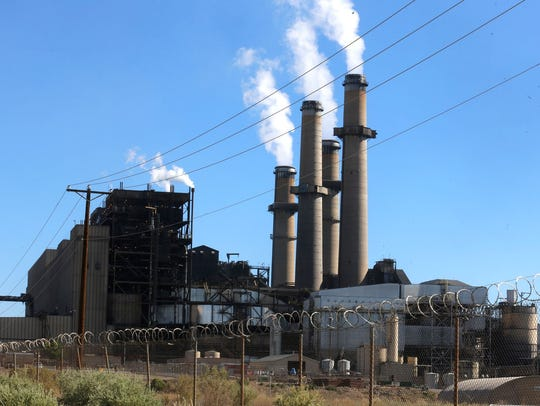 The San Juan Generating station is seen, Thursday,