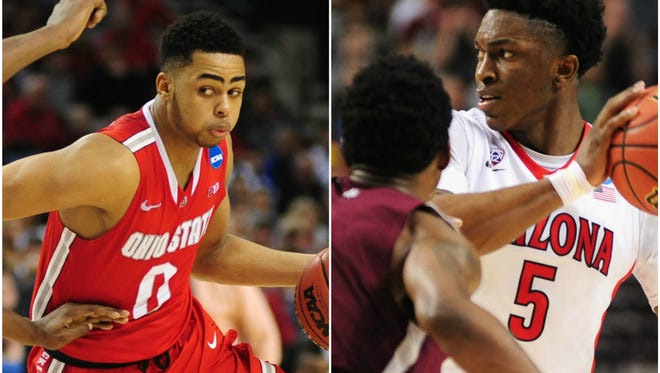 Arizona's NCAA Tournament game against Ohio State on Saturday will pair two of the top freshmen in the country: the Wildcats' Stanley Johnson and the Buckeyes' D'Angelo Russell.
