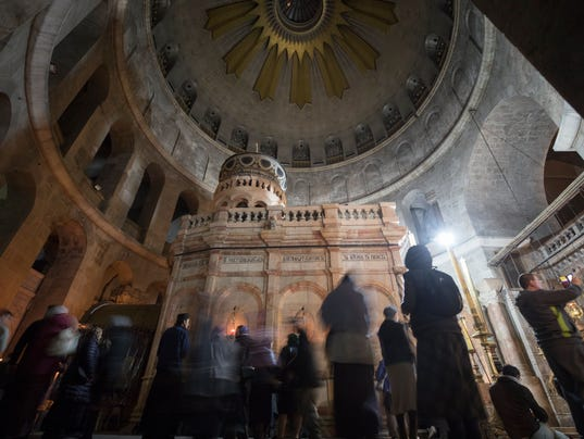 Church at site revered by Christians in Jerusalem reopened after tax spat (usatoday.com)