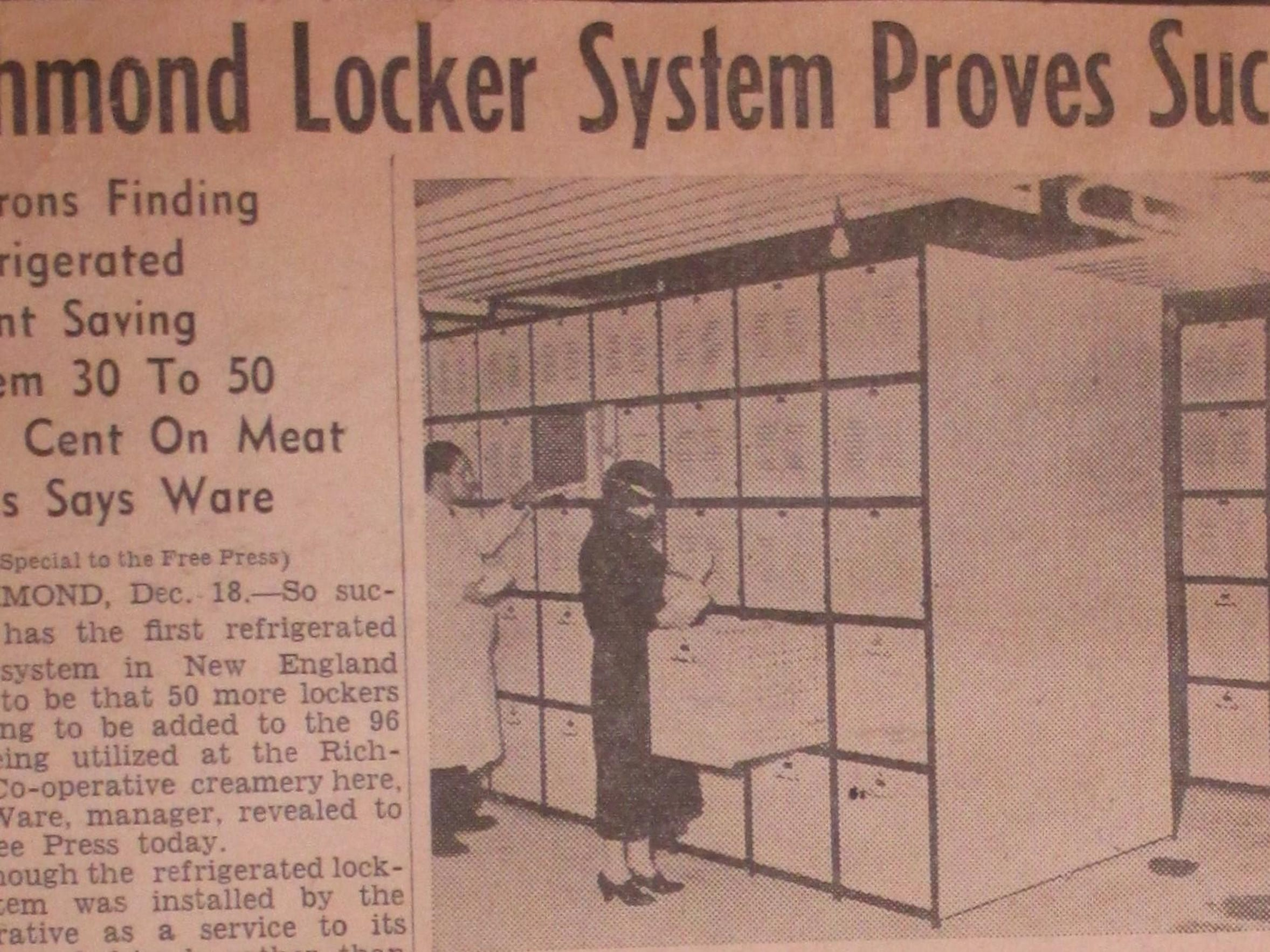 9. Refrigerated lockers