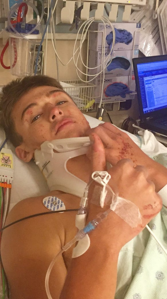 Smoky Mountain's Cody Lominac in the hospital after