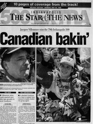 1995 Indianapolis Star cover