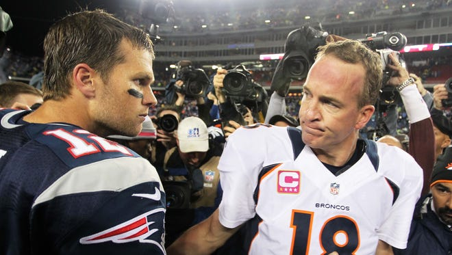 Tom Brady and Peyton Manning will face off once again this week.