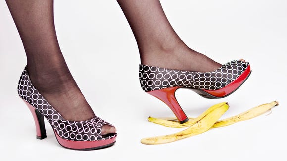Wearing high heels can be treacherous, reports a journal on foot and ankle injuries.