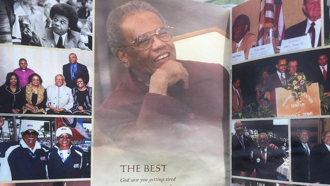 This photo tribute appeared inside the funeral service program for former state Rep. Bill Crawford. His funeral was held at Eastern Star Church in Indianapolis on Friday, Oct. 2, 2015. Crawford died Sept. 25 at age 79.